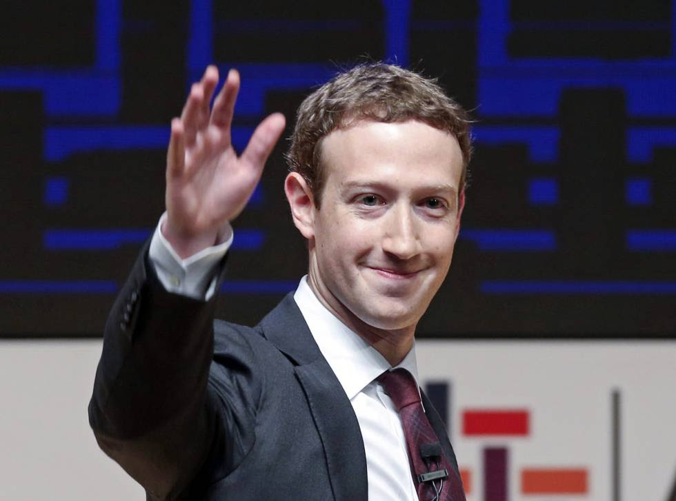El fundador de Facebook, Mark Zuckerberg, en una conferencia en Perú el 19 de noviembre de 2016.