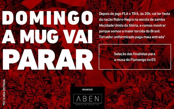 Torcedores do Flamengo no Espírito Santo se orgnizam para festa em escola de samba (Foto: Divulgação/Aben Marketing Esportivo)