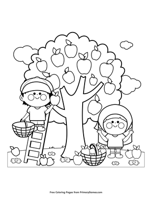 550 Apple Coloring Pages Images Pictures