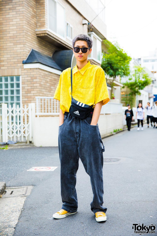 yellow resale streetwear in harajuku w resale fashion