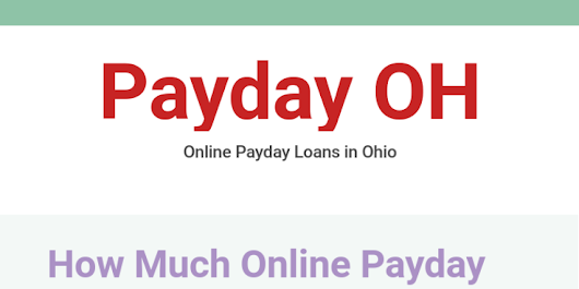 Payday OH - Online payday loans Ohio by Payday OH - Infogram
