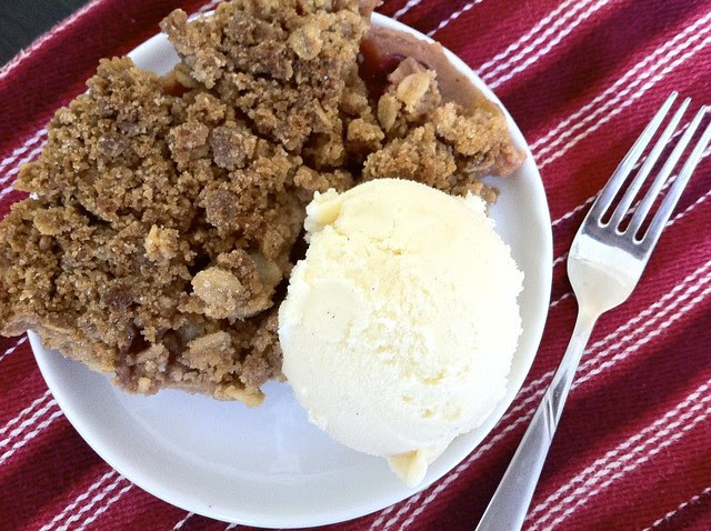Crisp Apple Crumble with Homemade Ice Cream