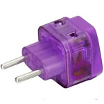 Power Travel Adapter Plug [with Built-in Surge Protector And Two Plug-in Ports] For Europe Greece (spain Portugal) Croatia Russia Ukraine Thailand