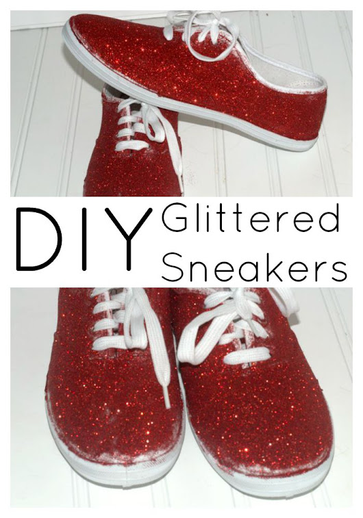How to Make DIY Glitter Sneakers Quickly and Easily - Style on Main
