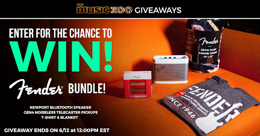 Enter to win a Fender Bluetooth Speaker, Custom Shop Pickups, and Swag Bundle from The Music Zoo!