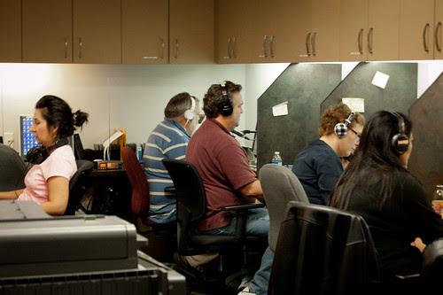 News 92 FM KROI temporary newsroom