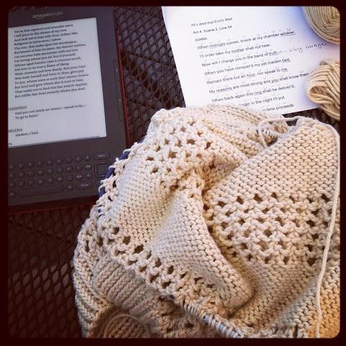 Knitting while reading!