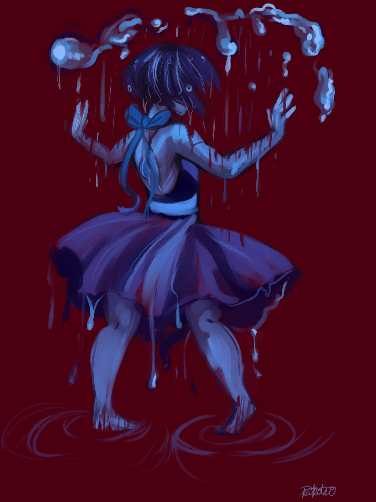 """""""Raining on her parade """" Really old lapis doodle that i buffed up a lil."""