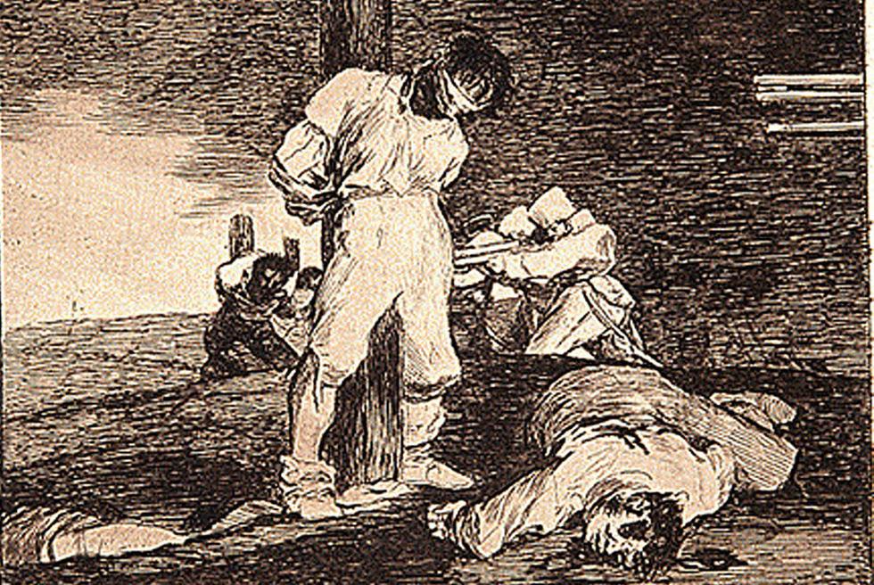 El grabado de Goya, 'Y no hay remedio'