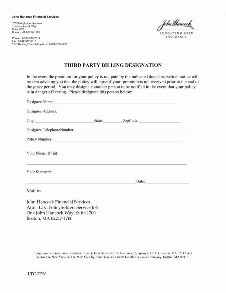 Lapse Protection Forms - Long-Term Care Insurance | A ...