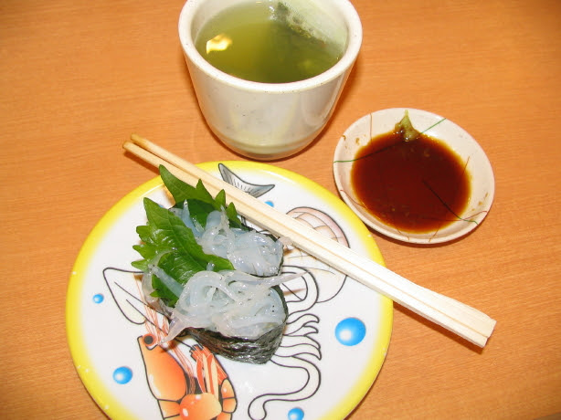 Sushi lunch met groene thee