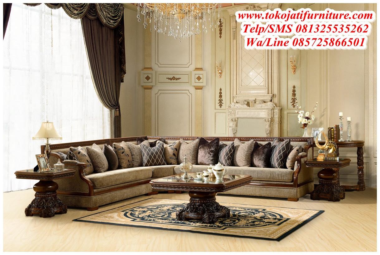 Sofa Tamu Luxury Sudut Wwwtokojatifurniturecom Best Store Online