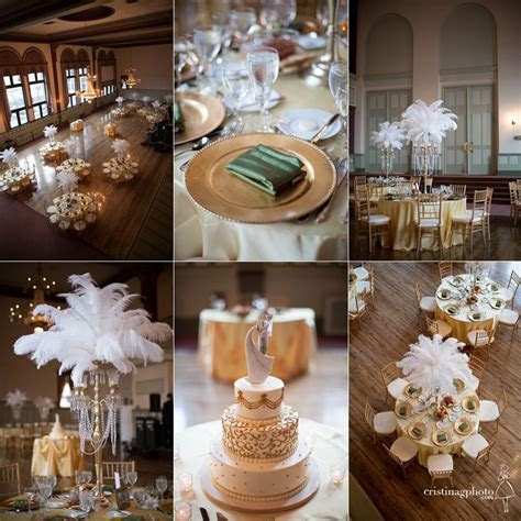 Great Gatsby wedding décor ideas www.MadamPaloozaEmporium