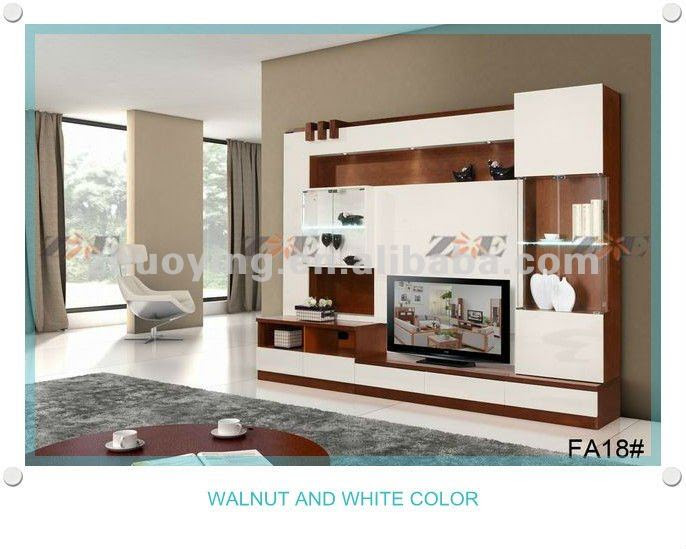 Modern living room lcd tv stand wooden design FA18B, View living ...