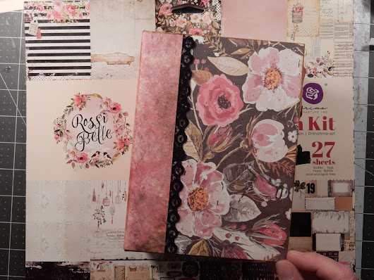 Mini Album: Large Keepsake Album using Jen Of Eve Designs Templates
