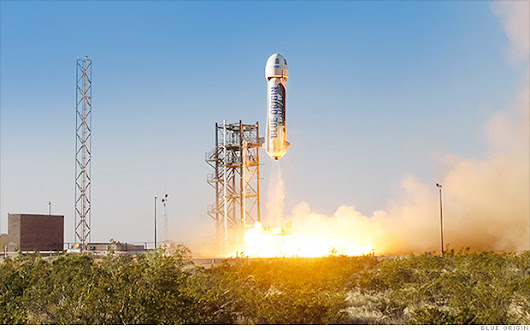 Amazon's Jeff Bezos launches first rocket into space