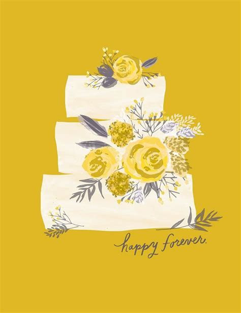 Happy Forever Layer Cake Wedding Card   Greeting Cards