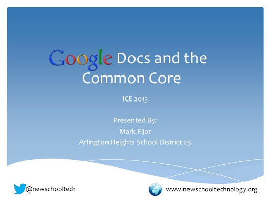 Google Docs and The Common Core