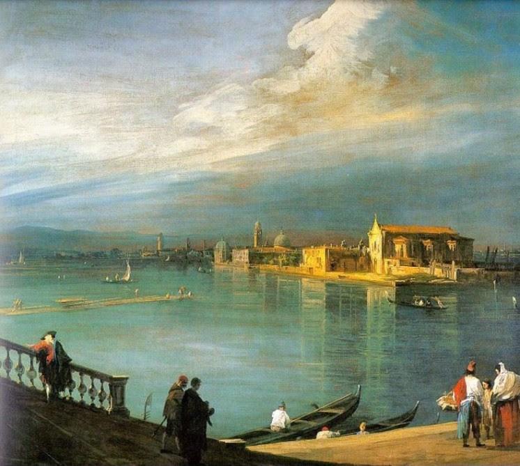 Antonio Canal-Canaletto, San  Cristoforo, San Michele und Murano in der Lagune; 1725-30