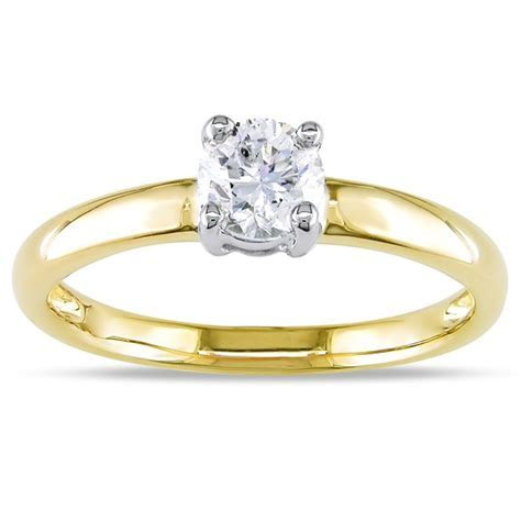 Splendid Cheap Solitaire Wedding Ring 0.33 Carat Round Cut