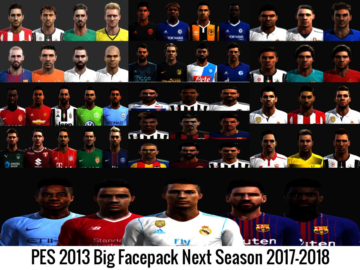 PES 2013 Big Facepack Next Season 2017-2018