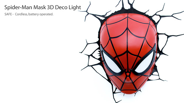 3D Spider-Man Mask Nightlight
