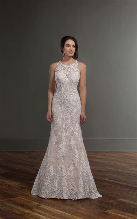 Lace Wedding Dresses   Lace High Neck Wedding Gown