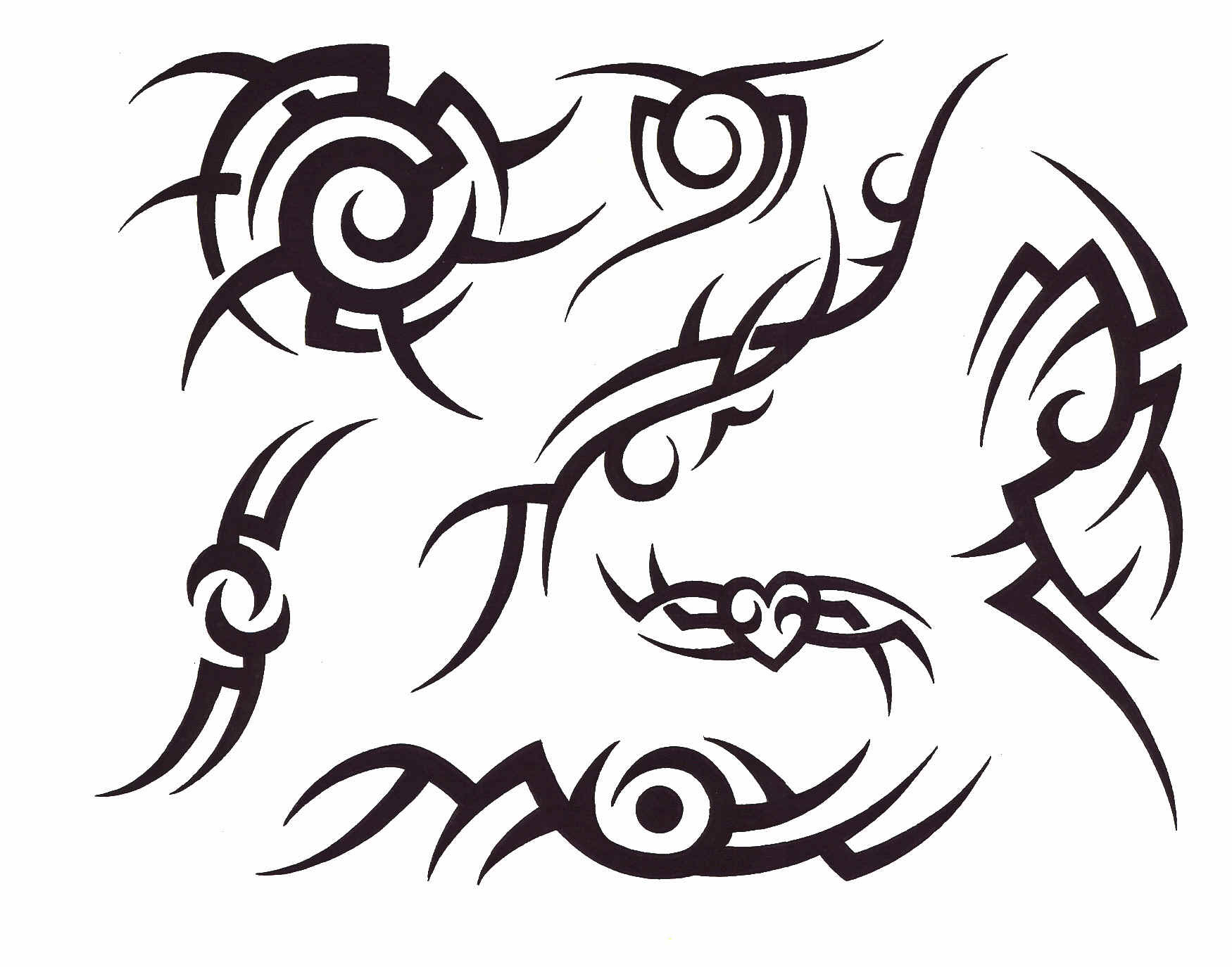 Create Tribal Tattoo Lettering