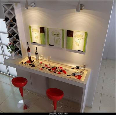 Home Decor  on Home Decor  Art Wall And Home Bar 3d Model Download Free 3d Models