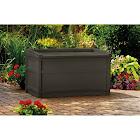 Suncast 50 Gallon Java Resin Storage Seat Deck Box Brown Garden Bench Furniture