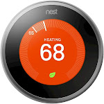 Google Nest Learning Thermostat Stainless Steel