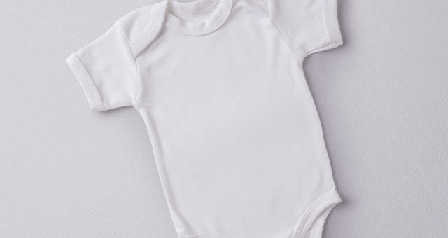 006 baby bodysuit cloth fabric indumentary mockup psd
