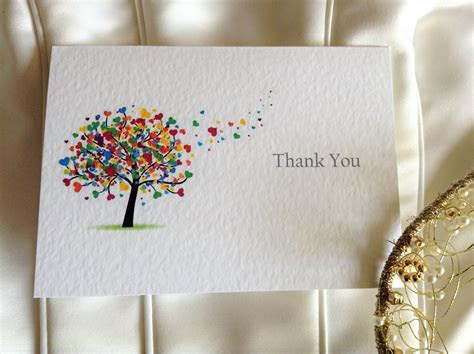 Love Tree Thank You Cards   Wedding Stationery