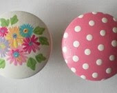 Kids Bouquet Floral Drawer Knobs Nursery Cabinet Pulls - DoodlesDecor