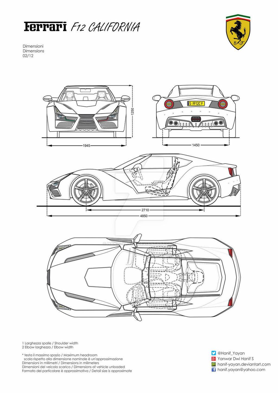 Ferrari F12 California Design Blueprints by hanif-yayan on ...