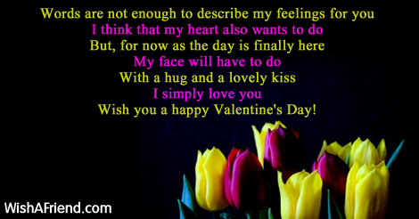 Words Are Not Enough To Describe Funny Valentines Day Quote