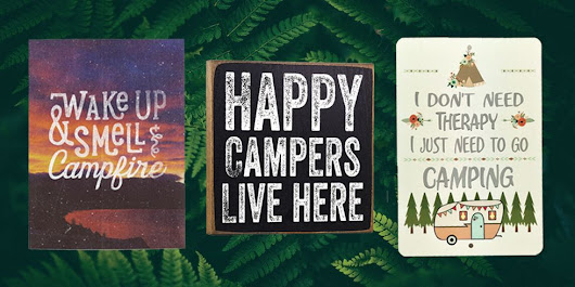15 Fun Camping Signs - Wall Decor for Campers
