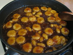 Carmelized bananas