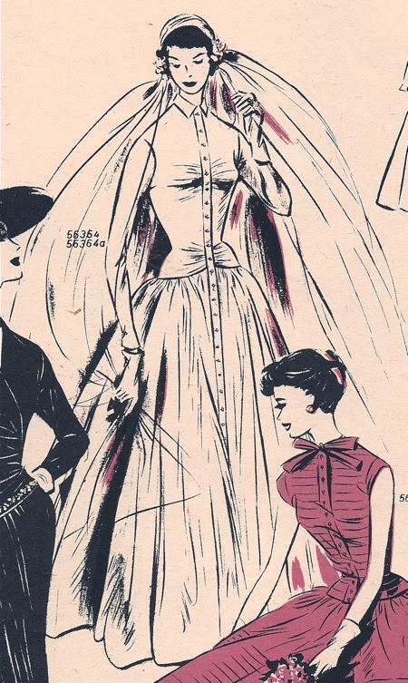 Novia años 50 - vestido camisero