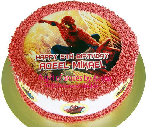 Birthday Cake Edible Image Spiderman