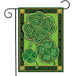 Celtic Shamrocks St. Patrick's Day Garden Flag