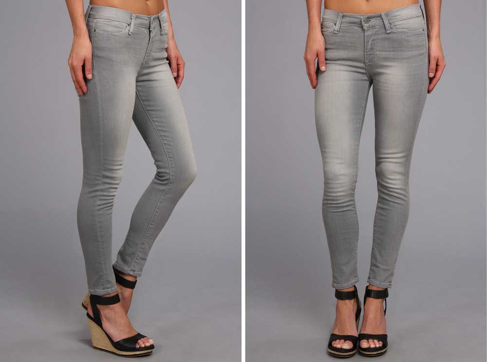 add calvin klein midrise gray skinny ankle jeans