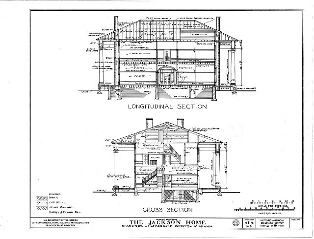 HABS ALA,39-FLO.V,3- (sheet 8 of 18) - Forks of Cypress, Savannah Road (Jackson Road), Florence, Lauderdale County, AL