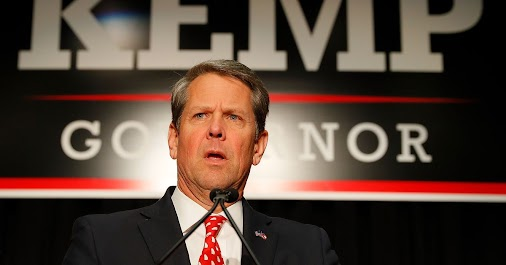 Brian Kemp finally steps down from administering the election he ran in  Kemp resigned as Georgia secretary...