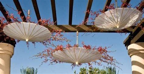 Super Cute Reception Decor: Hanging Umbrellas   Inspired Bride