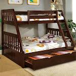 Furniture of America welchen Twin Over Full Bunk Bed in Dark Walnut
