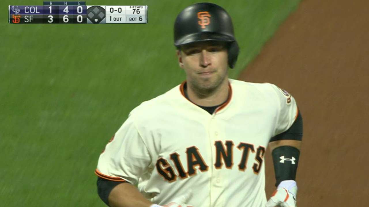 Posey's solo jack in the 6th