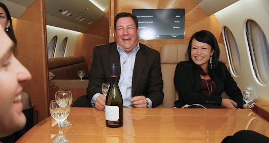 Drinking Wine With A Billionaire On His Private Jet