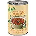 Amy's Organic Chunky Vegetable Soup, Low Fat, 14.3 Ounce
