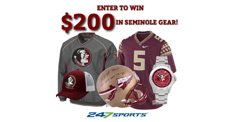 Enter to win $200 in Florida State Seminole gear!